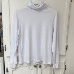 Reba Malone white turtleneck blouse small NWT